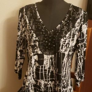 Large susan Lawrence top blouse